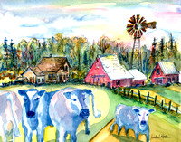 Cool Blue Cows-Minn